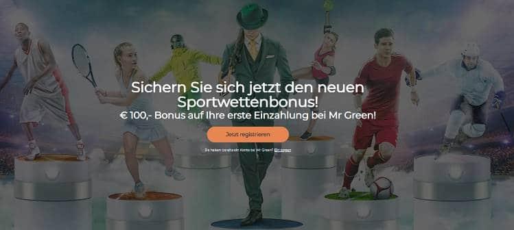 Mr Green Neukunden Bonus