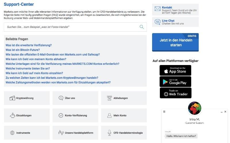 marketscom_erfahrungen_support