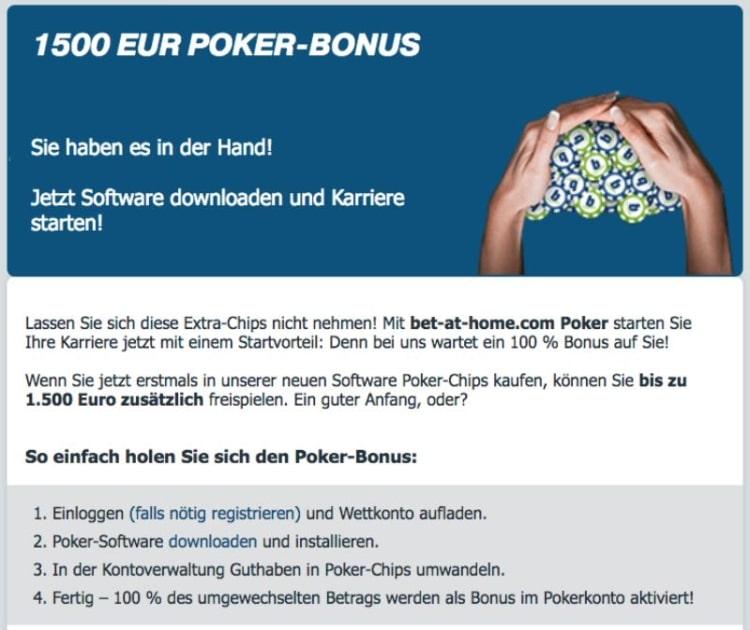 bet-at-home Casino Erfahrungen: Poker Bonus