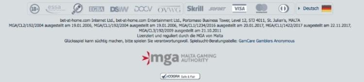 bet-at-home Casino Erfahrungen: Sicher dank MGA Lizenz