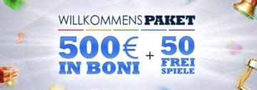 SlotsMillion Willkommensbonus: 500€ + 50 Freispiele