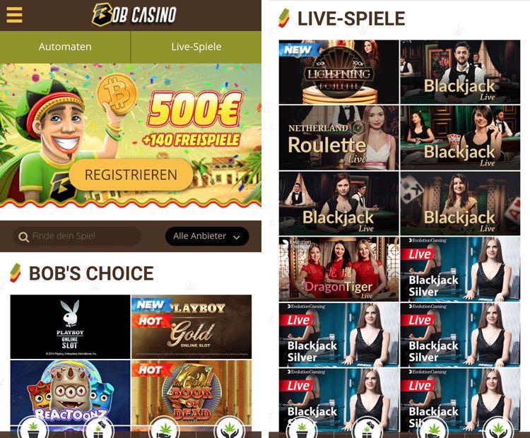 bob casino mobile app