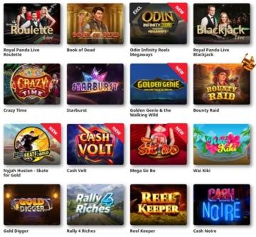 Royal Panda Casino Spiele