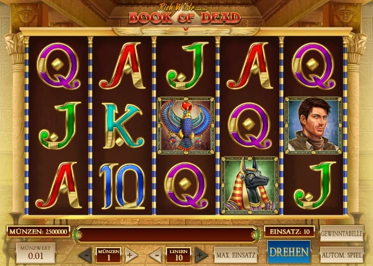 Book of Dead Slot in sicherem Casino spielen