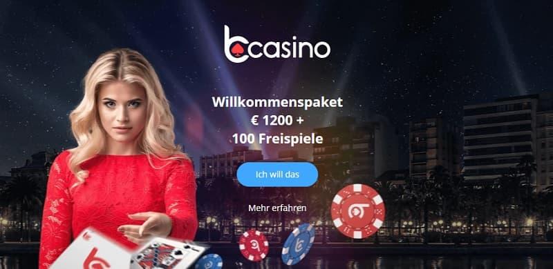 bCasino Bonus für Neukunden image