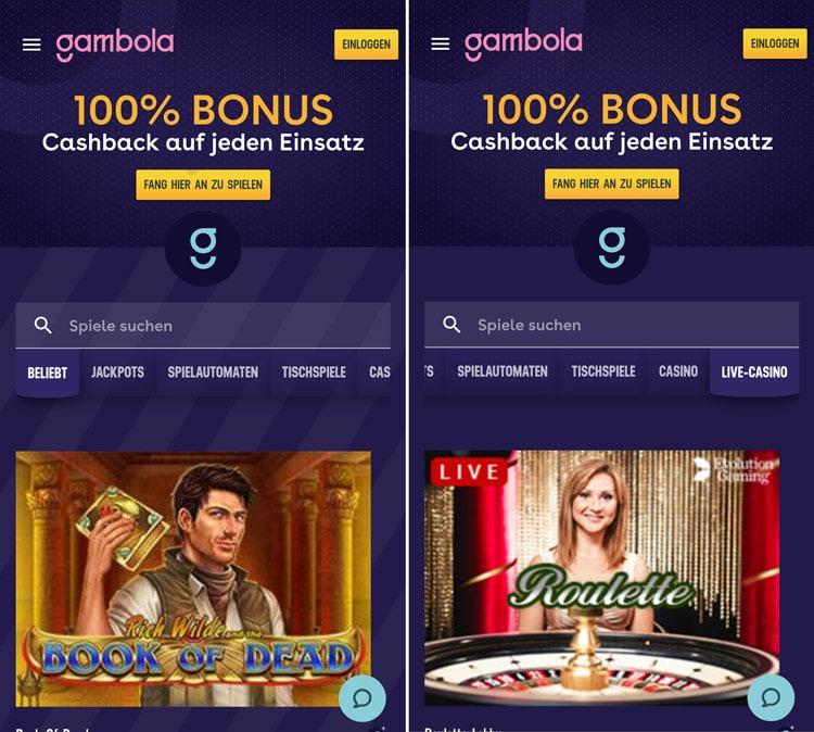 Gambola Casino App