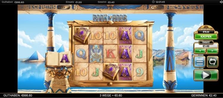 243 Gewinnmöglichkeiten bietet der Slot Book of Gods