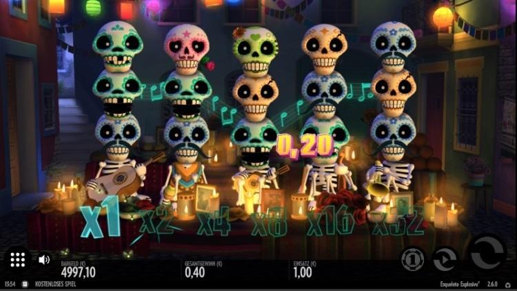 Esqueleto Explosivo besitzt 17 Gewinnlinien