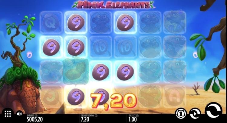 4096 Gewinnkombinationen warten beim Pink Elephants Slot