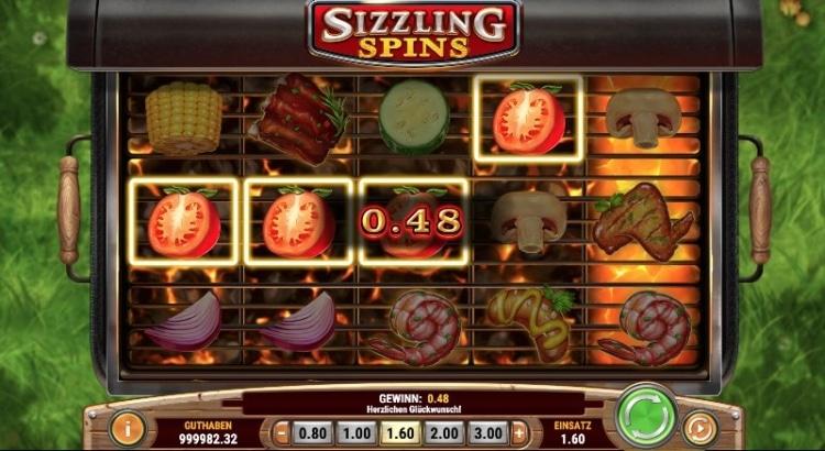 Sizzling Spin Slot Gewinn