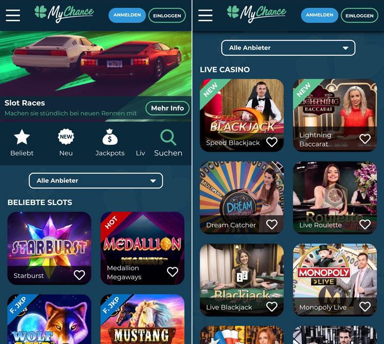 MyChance Casino App: benutzerfreundlich und intuitiv