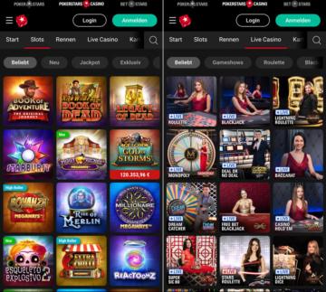 pokerstars Casino mobile App
