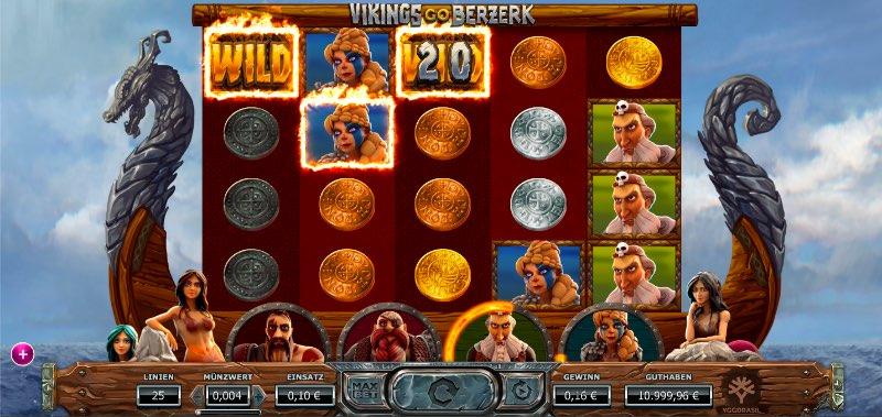 Vikings Go Berzerk Gewinnlinie