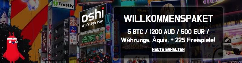 Oshi Casino Bonus: Betrug oder seriös?
