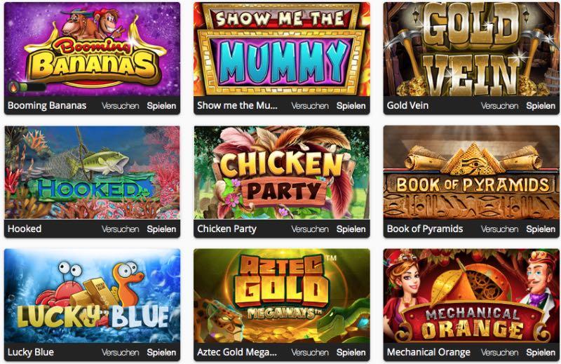 Seriöses Spieleangebot im Oshi Casino