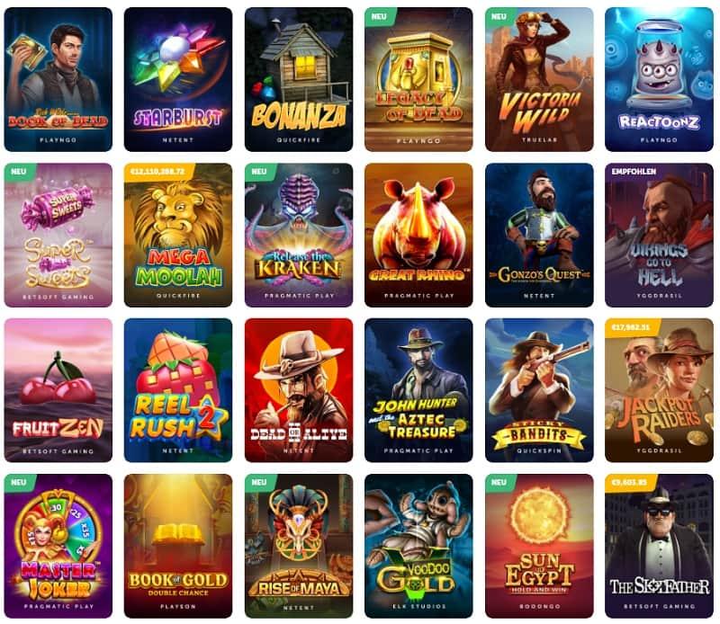 Große Auswahl an seriösen Spielen im TrueFlip Casino