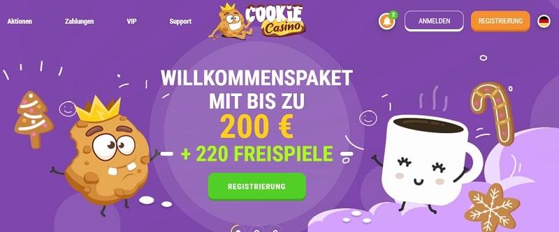CookieCasino Willkommensbonus