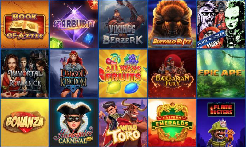 Spieleauswahl im Euslot Casino