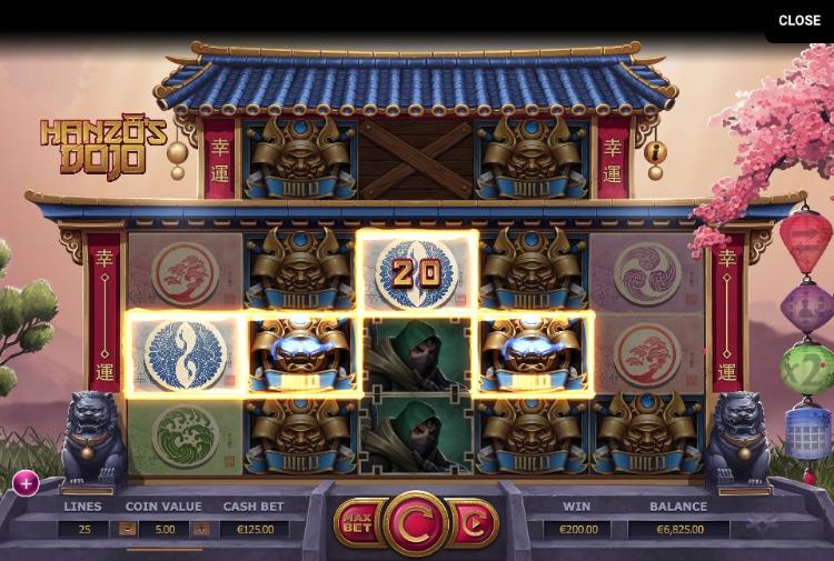 Hanzo's Dojo Slot Gewinn