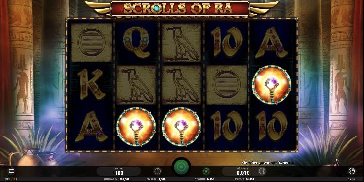 Scrolls of Ra besitzt 20 Gewinnlinien