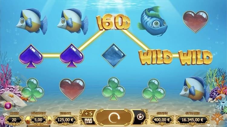 Der Slot Golden Fish Tank hat 20 Gewinnlinien