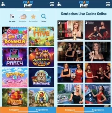 Crazeplay Casino App