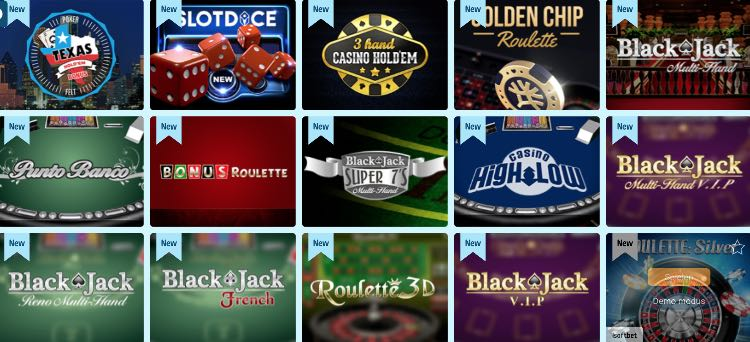 Crazeplay Casino Tischspiele