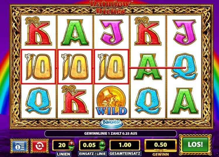 Rainbow Riches Slot Gewinne im Online Casino