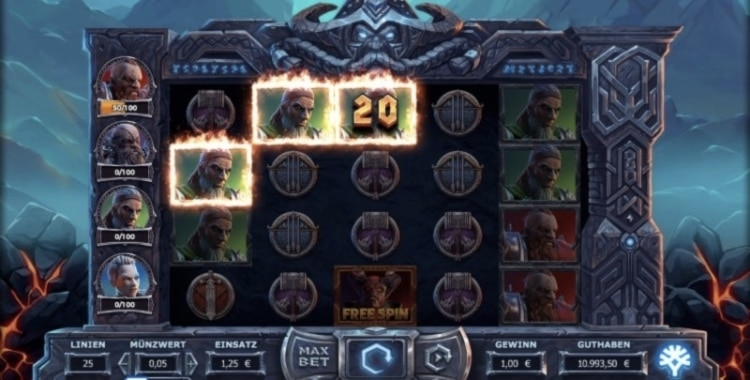 Gewinn beim Vikings Go To Hell Slot
