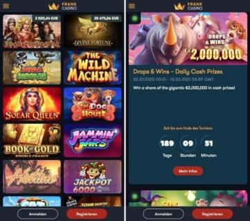 Frank Casino Erfahrungen: schnelle, intuitive App
