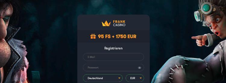 Frank Casino Willkommensbonus