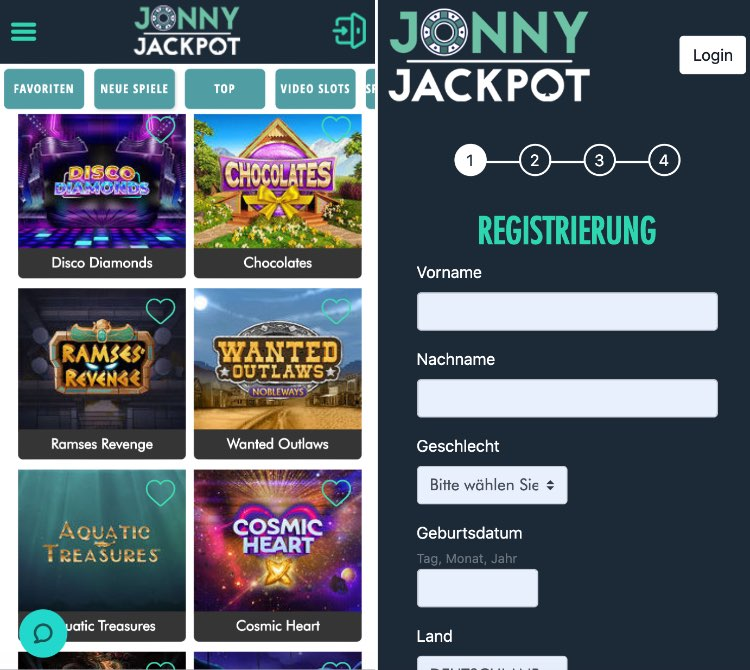 Die App von Jonny Jackpot bietet alles, was man sich vorstellt: Funktionalität und intuitive Bedienung.