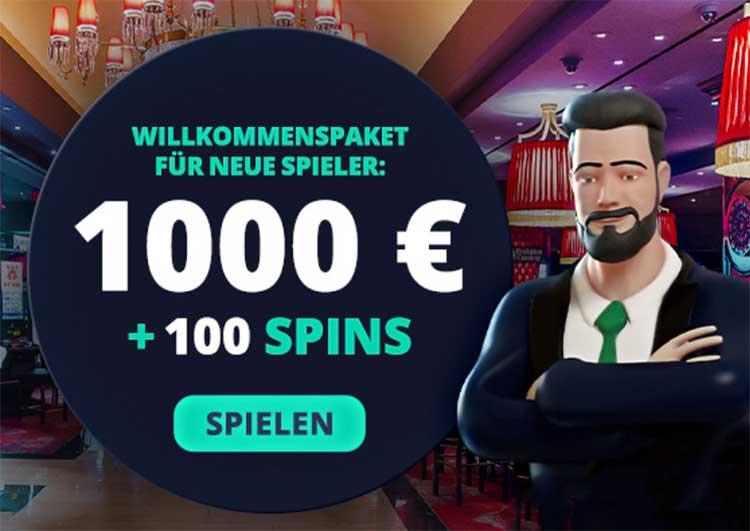 Bei JonnyJackpot warten 1000€ Bonusgeld und 100 Freispiele auf dich.