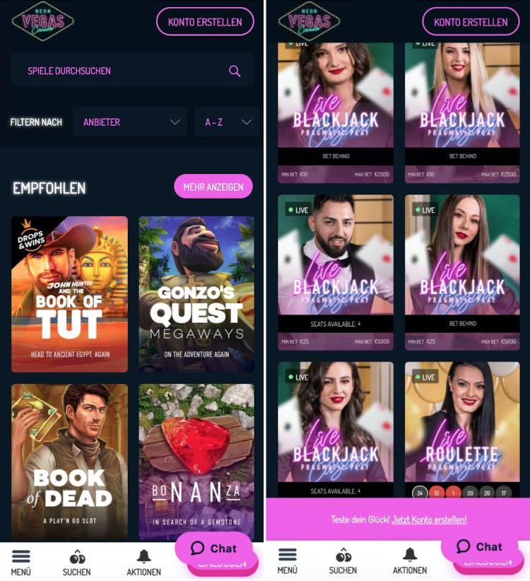 NeonVegas Casino App