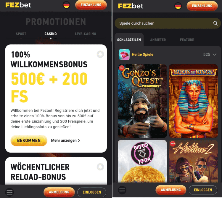 FEZbet Casino App