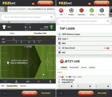 FEZBet Sportwetten App