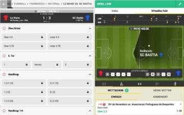 FEZBet Sportwetten Live Wetten