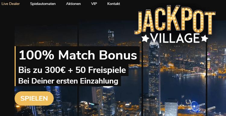 Jackpot Village Willkommensbonus
