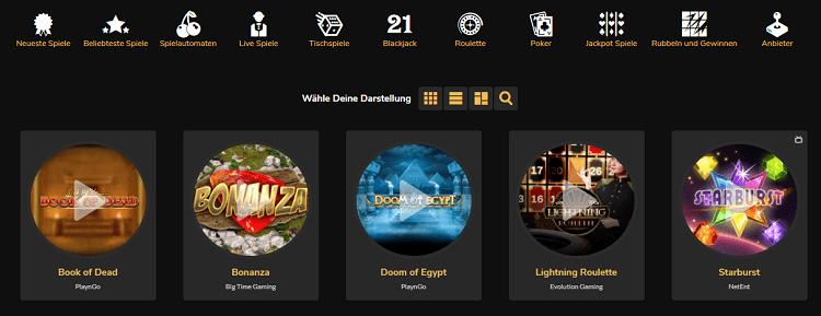 Jackpot Village Spieleangebot