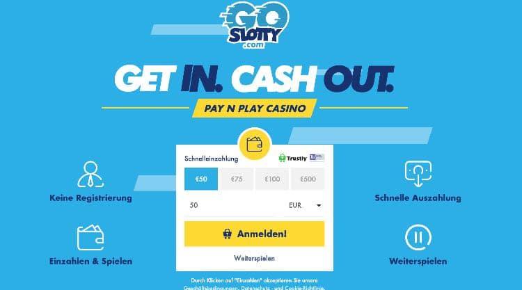 Casino ohne Registrierung GoSlotty