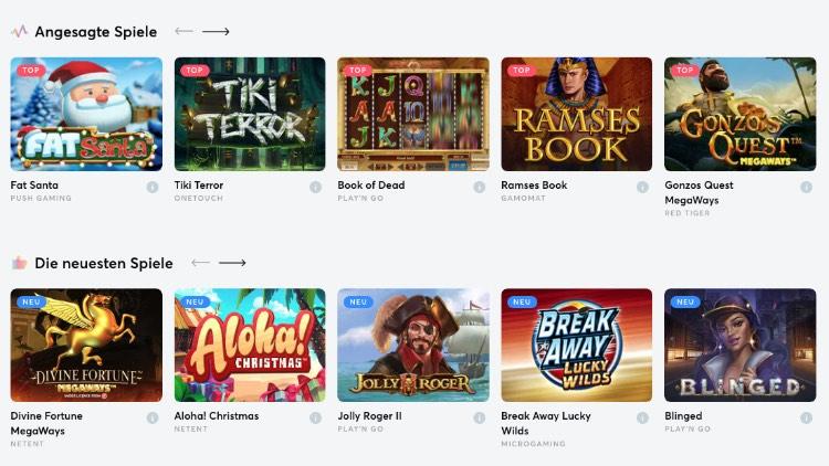 Slots.io Spieleangebot