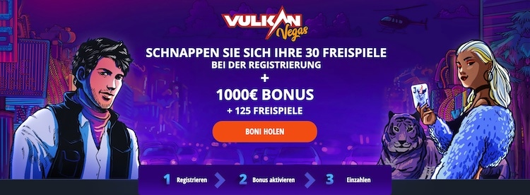 Vulkan Vegas Casino Bonus für Neukunden