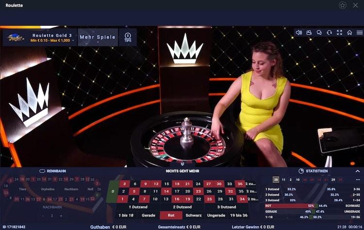 Vulkan Vegas Live Roulette