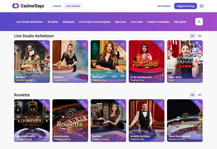 Casino Days Live Casino