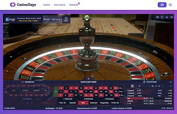 Live Casino Casino Days