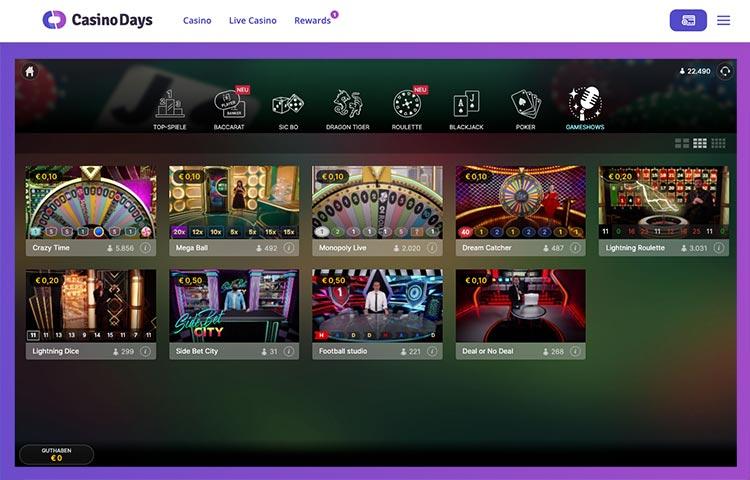 Live Casino Days