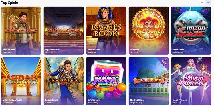 Top Spiele bei Casino Days