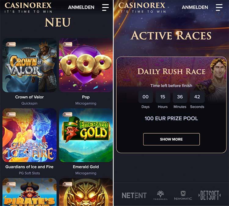 CasinoRex mobiles Casino