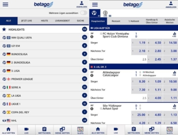 Betago Sportwetten App