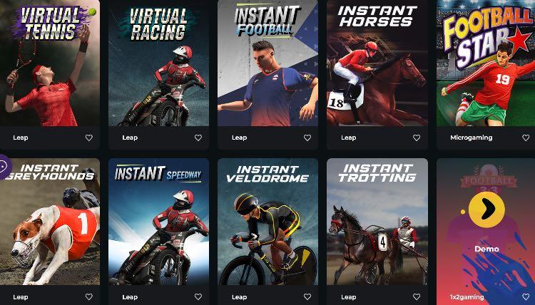 Boomerang Casino Virtual Sports